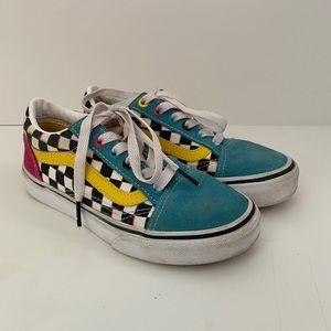 Vans Girls Checkerboard Sneakers
